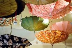A real umbrella -  and not the kind you fold up and fits in your purse!