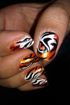 tiger nails tutorial - Αναζήτηση Google | Ζωονυχάκιααα ...
