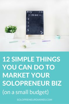 Whether your business is online or offline, this post will show you 12 simple things you can do to market your solopreneur business (on a small or non-existent budget). Click through to see all // Solopreneure Diaries Small Business Marketing, Internet Marketing, Online Marketing, Online Business, Media Marketing, Marketing Strategies, Digital Marketing, Marketing Ideas, Content Marketing