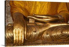 Scott Stulberg Premium Thick-Wrap Canvas Wall Art Print entitled Buddha in the Shwedagon Pagoda, Yangon, Burma, None