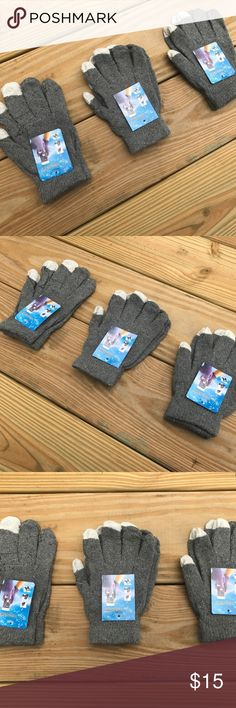 Wholesale Lot of 3 Gloves Touchscreen Outdoor Wholesale Lot of 3 Gloves Touchscreen Outdoor Winter Acrylic Gloves Size Fit All  3 Pair of Gloves in a lot  Brand New  Touchscreen Warm Outdoor Magic Knitted Gloves  Color: Gray  Product Description:  Feel the warmth right at your fingertips.  The Magic Touch Gloves features a soft knit body with color-blocked detail. Mainly  adopt the high-quality Acrylic, it makes this glove more durable, comfortable and warm.  This pair of glove is delicately…