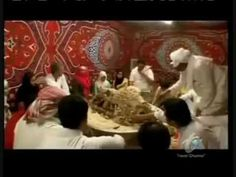 tratishonal saudi way of cooking camels (saleeg).