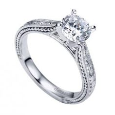 Gabriel & Company Victorian Semi-Mount Solitaire Engagement Ring made of 14K White Gold style ER6636W4JJJ. In modern culture concepts such as style personality excellence - all synonyms of perfection and beauty become particularly valuable.
