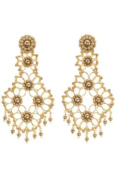 Golden Dreams Earrings by Miguel Ases