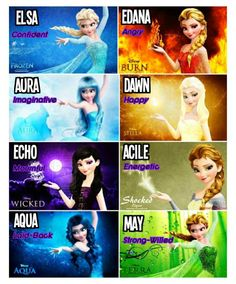 Elsa's different elements and personality