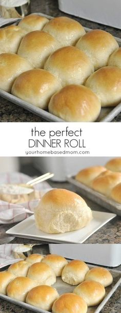 The Perfect Dinner roll is light, soft and warm!