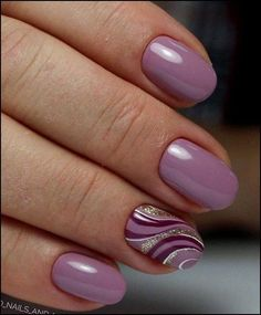 Magenta and lilac wave nails designs fashion Nowadays nail art is the latest fashion trend, therefore, girls should be aware of the latest nail . Lilac Nails, Purple Nail Art, Pink Purple, Purple Nails With Design, Lavender Nails, Fingernail Designs, Gel Nail Designs, Nails Design, Pretty Nails