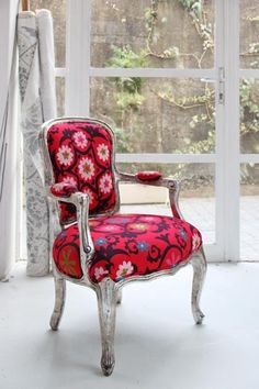 Lula Fabrics - Suzani Red, available from Beach House DECOR Studio - www.beachhouse.co.za