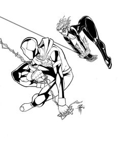 black cat spiderman coloring pages - photo#19