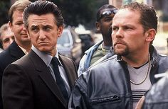 Sean Penn and Kevin Chapman in Mystic River.