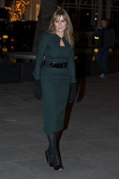 Carol Vorderman Photos Photos - Carol Vorderman turns on the Mount Street Christmas lights in Mayfair, London. - Carol Vorderman Turns on Mount Street Christmas Lights in London
