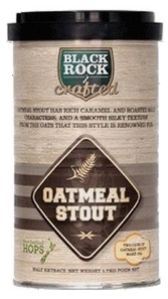 Black Rock Crafted Oatmeal Stout  Caracter bogat, gust de malt prajit si caramel datorat unei selectii speciale de malt, echilibrat cu amareala moderata si o textura moale, matasoasa data de maltul de ovaz.  Ingrediente: Malt – Caramalt, Lager, Roasted, Chocolate, Black si Oats Hamei – Green Bullet, Pacific Gem Apa pura din Noua Zeelanda Drojdie premium sub capac.  Culoare: 180 EBC Grad amareala: 27 IBU  O cutie de 1.7 kg va produce 23 de litri de bere. Fabricat in Noua Zeelanda