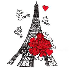 Bring the romance of the City of Lights into your home with this cute collection. Rose Embroidery, Custom Embroidery, Embroidery Thread, Machine Embroidery Designs, All Design, Free Design, City Lights, Sewing Crafts, Applique