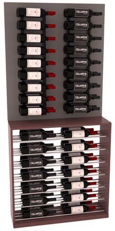 """Pine 35"""" Wall Series Display Combo Kit 1 with Burgundy stain and satin finish."""