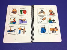 The First and Then Book - Interactive Autism Visual Aid - PECS - 24 symbols