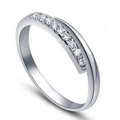 1/4 Carat Womens Diamond Wedding Band on 14k White Gold