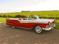 1957 ford Fairlane 500 Skyliner convertible with retractable hardtop down...