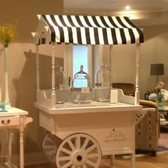 Beautiful cart with black/white canopy on rental