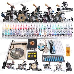 Value Tattoo Kit 5 Machine Guns Set Equipment Power Supply tattoo value kit D179 :5 tattoo machine. [D179(U-2.5)] - US$48.99 : Dragonhawk tattoo supplies, tattoo kits,tattoo machines for sale global form tattoodiy.com