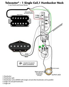 tele wiring diagram 1 humbucker 1 single coil with push pull rh pinterest com fender telecaster wiring diagram humbucker fender noiseless tele pickups wiring diagram