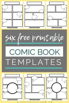 Comic Book Templates - Free Printable Pages - The Kitchen Table Classroom Basically any excuse for my kids to take pen to paper and I'm there.These free comic book templates printables are a fun way to keep your kids writing! Blank Comic Book Pages, Comic Book Layout, Comic Book Display, Free Comic Books, Comic Books Art, Comic Book Writing, Writing Comics, Writing Prompts For Kids, Kids Writing