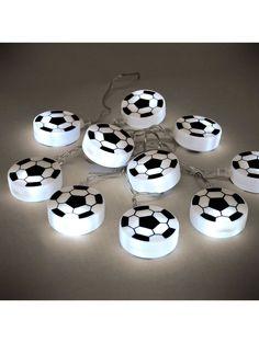 black and White Football String LED Fairy Lights