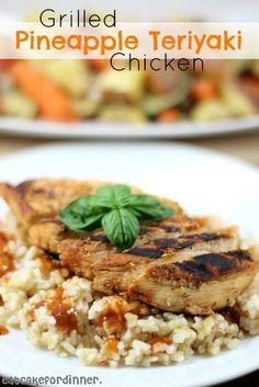 Grilled Pineapple Teriyaki Chicken on eatcakefordinner.blogspot.com