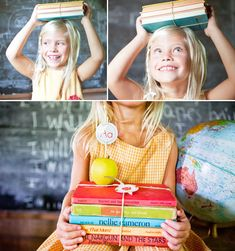 really want to take pictures of my kids this year with books.