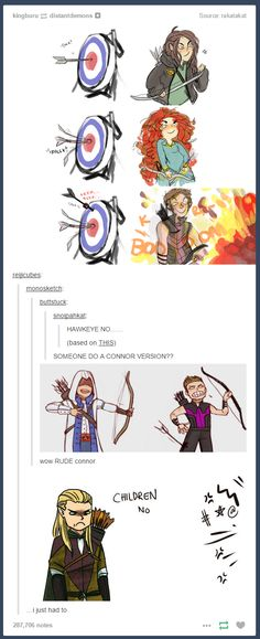 Hawkeye and Connor are hilarious but Legolas in the end had me dying xD Dc Memes, Funny Memes, Hilarious, Pokemon Mew, Legolas, Marvel Dc, Jorge Ben, Avengers, Mini Comic