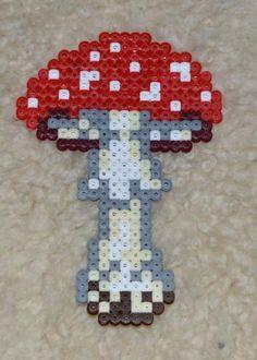 Autumn mushroom hama beads by Antje