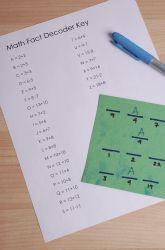 WORKSHEET:  Math Fact Decoder