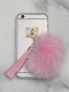 Pink Fuzz Ball iPhone Case