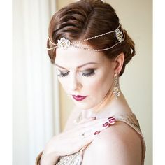 Gold & champagne custom Lissa hairchain created for Andrea's #Gatsby…