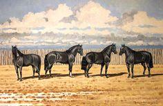 La tropilla de la muerte. Oleo sobre lienzo. 40 x 60cm. 2002.