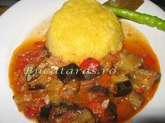 Mancarica de vara cu mamaliguta Romanian Food, Meat, Chicken, Cubs