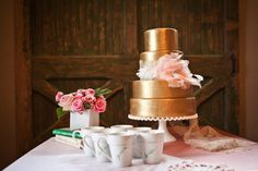 As metallic as it gets for a cake! Image: Katie Cassidy