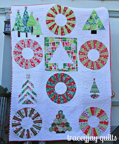 Christmas bee quilt finished! by traceyjay, via Flickr