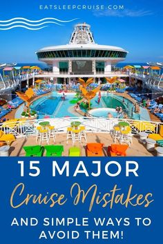 15 Major Cruise Mistakes (and Simple Ways to Avoid Them) - Cruise like a pro on your next voyage with our expert tips on how to avoid these 15 common cruise mistakes. #cruise #cruisetips #cruisemistakes #cruiseplanning #eatsleepcruise