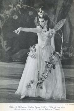Vivien Leigh as Titania in A Midsummer Night's Dream at the Old Vic Theatre in London.