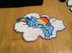 Rainbow Dash perler bead art by hoodoosteve on deviantart
