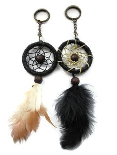Check out this item in my Etsy shop https://www.etsy.com/uk/listing/275412696/mini-dream-catcher-key-chain-dream
