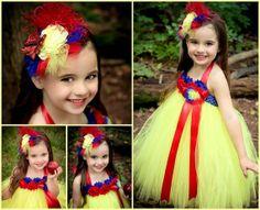 Snow White Tutu Costume by SparklingLilys on Etsy, $65.00