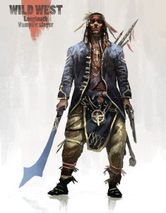 ArtStation - Benjamin Giletti's submission on Wild West - Character Design Native American Warrior, Native American History, Native American Indians, Dark Fantasy, Fantasy Art, Westerns, Native American Pictures, Western Comics, Cyberpunk Character