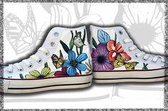 scarpe personalizzate, converse, vans dipinte a mano - Pezzi unici   Converse Hi