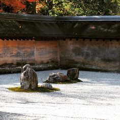 GARDEN OF ROCKS AT RYOANJI TEMPLE IN KYOTO, JAPAN. It takes time and patience to enjoy a zen garden!! #japanese #garden SEE MORE ART NOW www.richard-neuman-artist.com