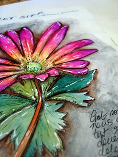 looks like it's coming right off the page - love this flower!