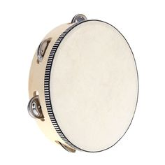 8 Hand Held Tambourine Drum Bell Birch Metal Jingles Percussion Musical Educational Toy Instrument for KTV Party Kids Games