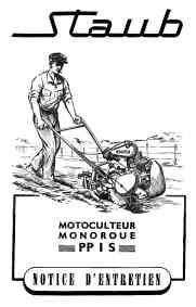 Documentation technique sur les motoculteurs Staub