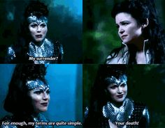 "OUAT 2x10 ""The Cricket Game""- The Queen is set up by Snow White"