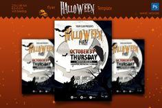 Halloween Party Flyer by zheksha on Creative Market